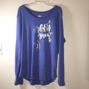 Christmas Sweater Blue soft Womens 20- 22W, 2X